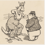 The stranger looked at Mr Wombat with twinkling eyes, 1925-1935