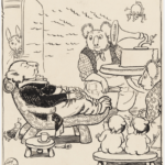 MAY GIBBS, PEN & INK DRAWING, FROM ILLUSTRATIONS FOR NEWSPAPER COLUMN 'GUMNUT GOSSIP', PXD 304 / VOL. 9 / 841