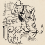 MAY GIBBS, PEN & INK DRAWING, FROM ILLUSTRATIONS FOR NEWSPAPER COLUMN 'GUMNUT GOSSIP', PXD 304 / VOL. 9 / 1038