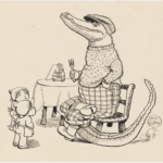 MAY GIBBS, PEN & INK DRAWING, FROM ILLUSTRATIONS FOR NEWSPAPER COLUMN 'GUMNUT GOSSIP', PXD 304 / VOL. 9 / 1045