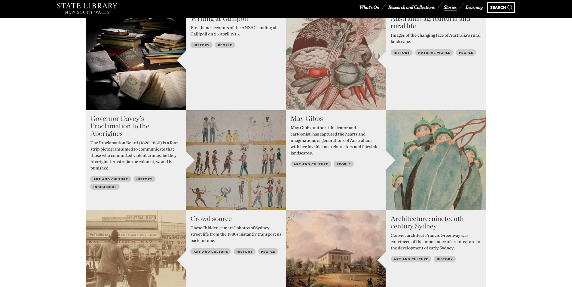 State Library of NSW new website featuring May Gibbs