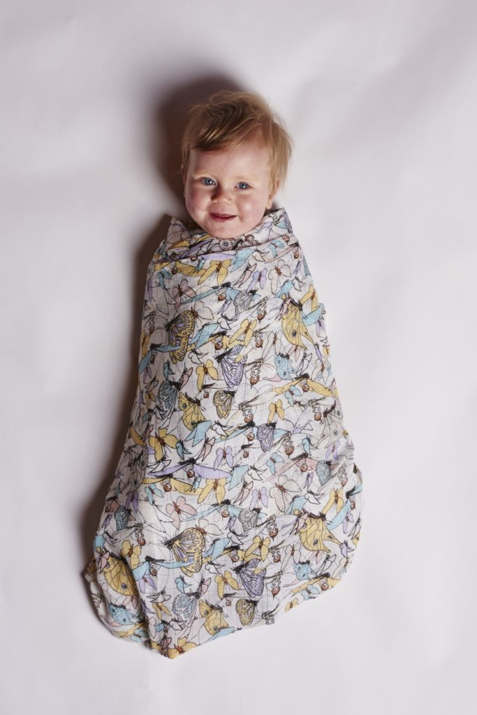 May Gibbs x Kip & Co limited edition collection - Flutter Bamboo Swaddle
