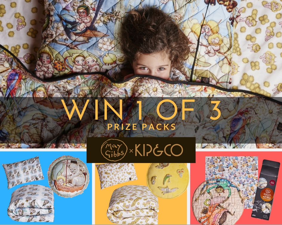 Win 1 of 3 May Gibbs x Kip&Co prize packs