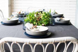 bush inspired table setting