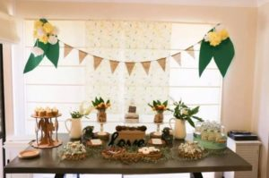 birthday party table with may gibbs inspired setting