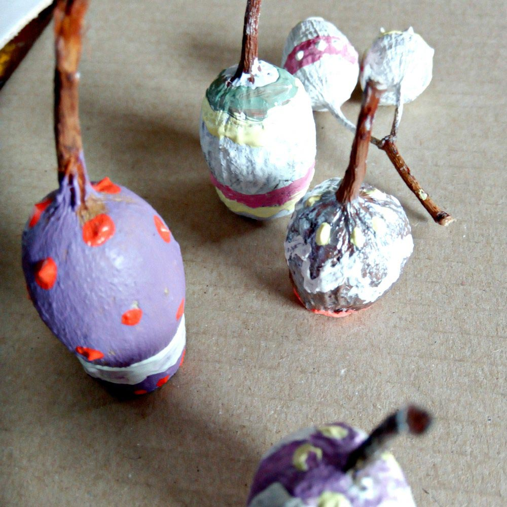 Easter Basket Craft Table Decoration Painted Gum Nuts