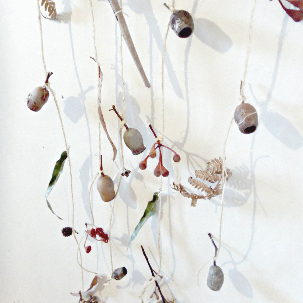 nature play wall hanger gum nuts leaves flowers