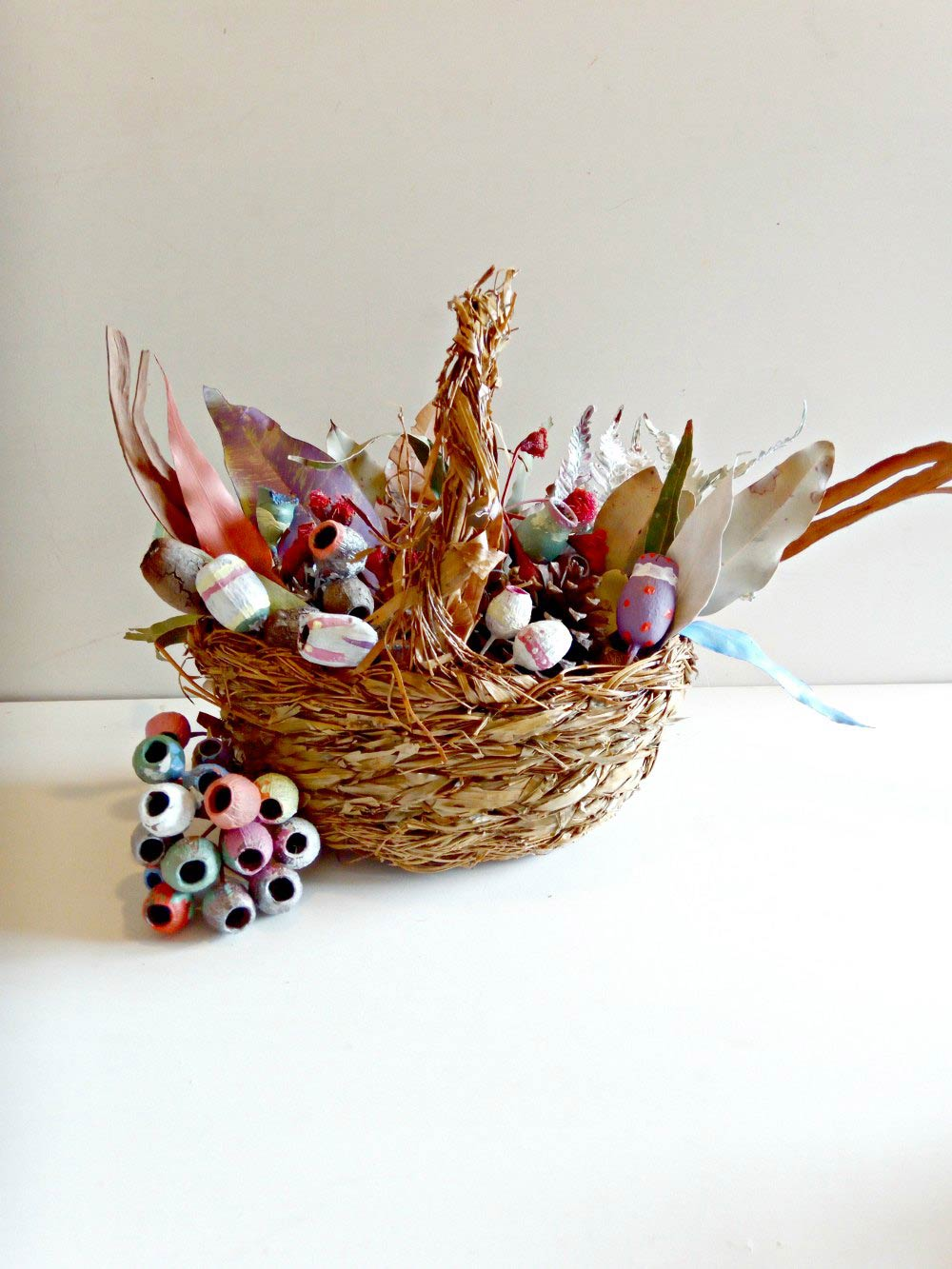 Easter Basket Craft Table Decoration: May Gibbs Inspired with Gum Nuts