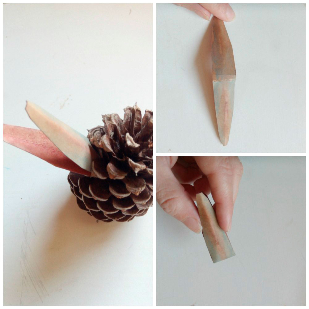 Australian Animal Craft Project: Mrs Kookaburra Pinecone