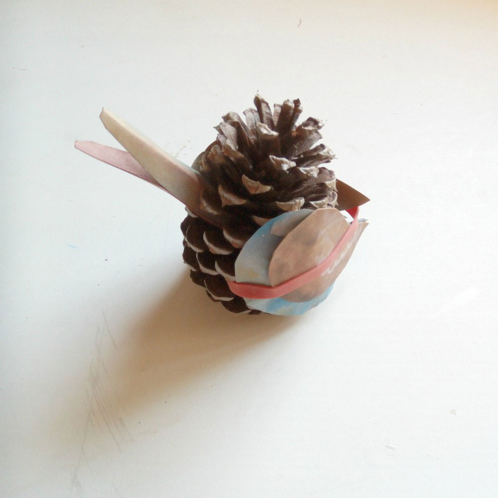 Australian Animal Craft Project: May Gibbs Kookaburra Pinecone Wings