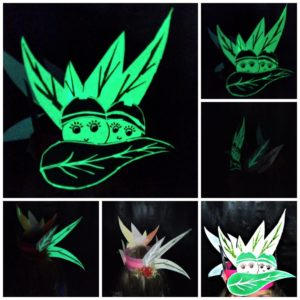 vivid festival glow in the dark crown