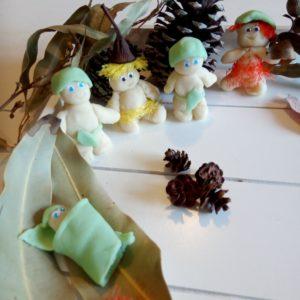 snugglepot and cuddlepie play dough craft gumnut babies