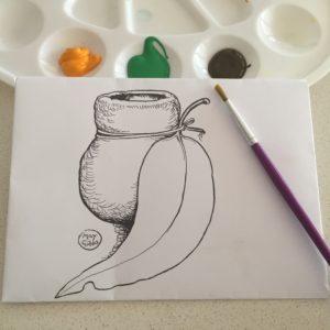 Gumnut mail art template