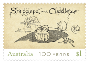 Snugglepot and Cuddlepie 2018 stamp Australia Post