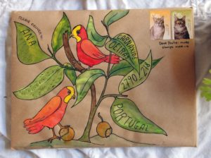 Mail Art example from Naomi Loves