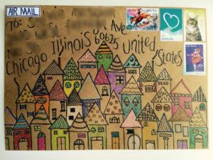 Mail Art example - League of Extraordinary Penpals