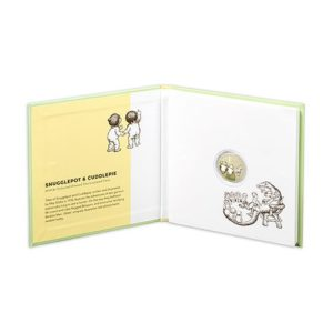 Treasured Australian Stories Two Coin Set - Snugglepot and Cuddlepie packaging inside