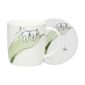 May Gibbs by Ecology Gumnut Mug & Coaster (white)