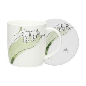 May Gibbs by Ecology Gumnut Mug & Coaster (white)