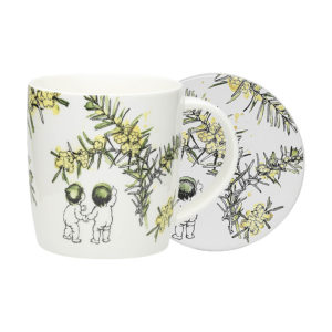 May Gibbs by Ecology Wattle Mug & Coaster (white)