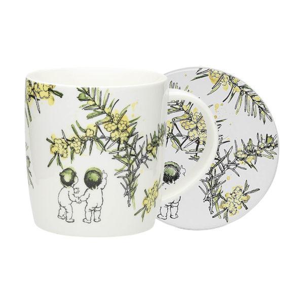 May Gibbs by Ecology Wattle Mug & Coaster (white)