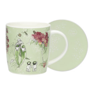 May Gibbs by Ecology Gumnut Mug & Coaster (green)