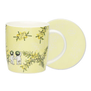 May Gibbs by Ecology Wattle Mug & Coaster (yellow)
