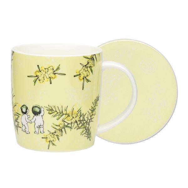 May Gibbs by Ecology Wattle Mug & Coaster (yellow)