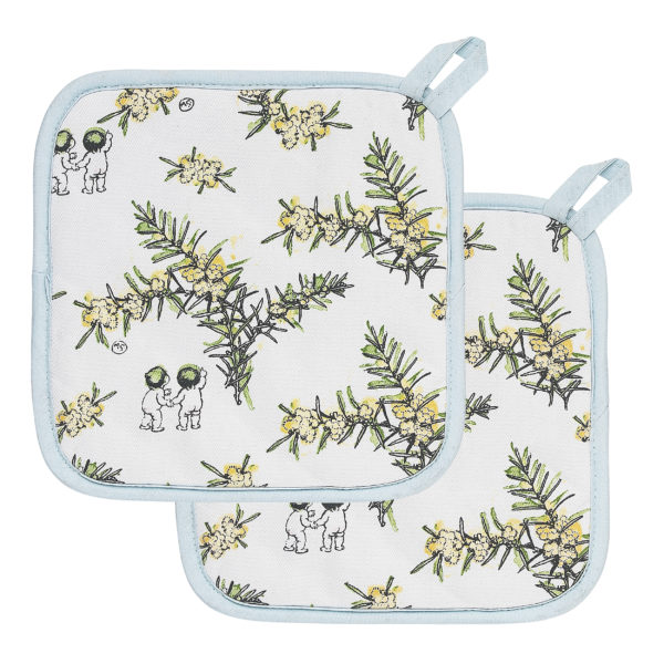 May Gibbs by Ecology Wattle Pot Holders set of 2