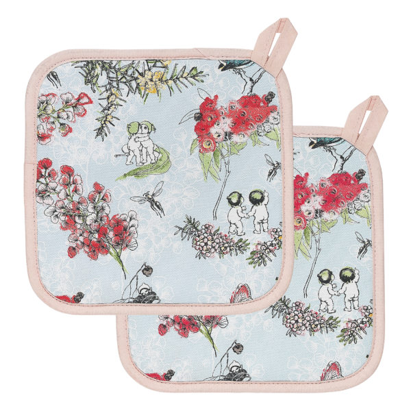 May Gibbs by Ecology Blossom Pot Holders set of 2
