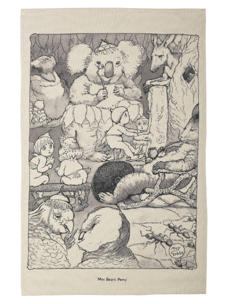 May Gibbs by Ecology Limited Edition Tea Towel Mrs Bear's Party
