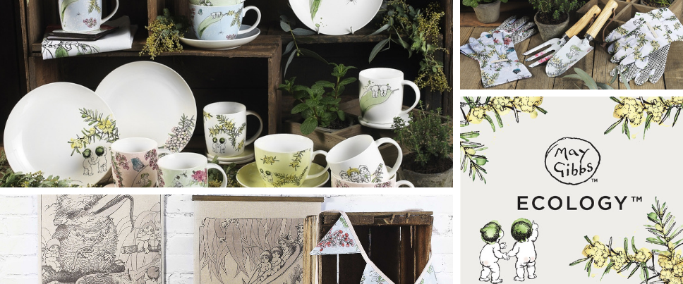 May Gibbs by Ecology homewares collection