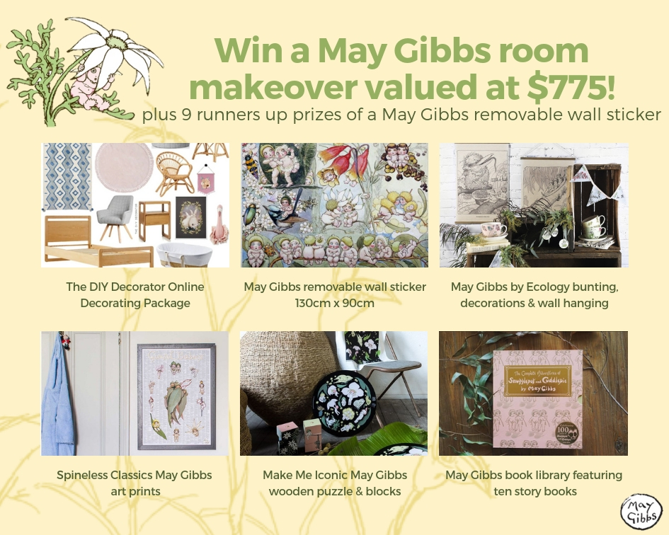 Win a May Gibbs room makeover prize details
