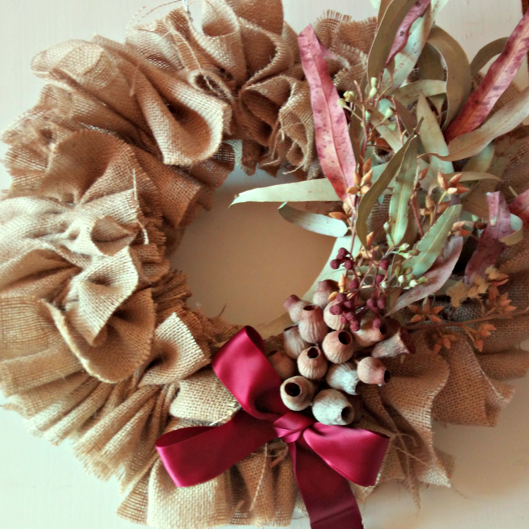 Australian Gum Nut Christmas Wreath