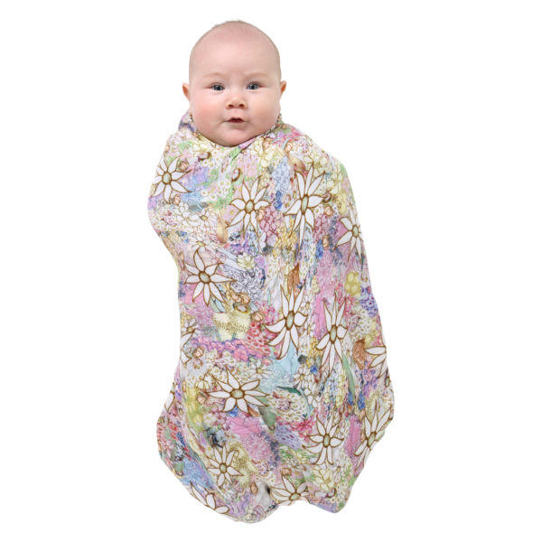 MAY GIBBS X KIP&CO FLORA & FAUNA SINGLE SWADDLE