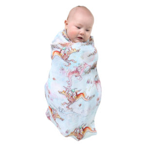 MAY GIBBS X KIP&CO OCEAN BABES SINGLE SWADDLE