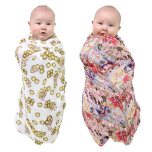 MAY GIBBS X KIP&CO THE SWEET BABES & WATTLE BABES SWADDLE SET