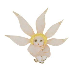 Erstwilder x May Gibbs Flannel Flower Brooch