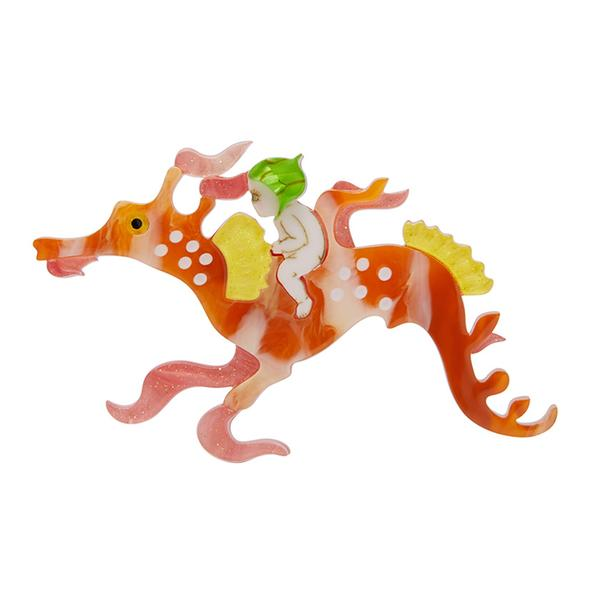 Erstwilder x May Gibbs Leafy and the Sea Dragon brooch