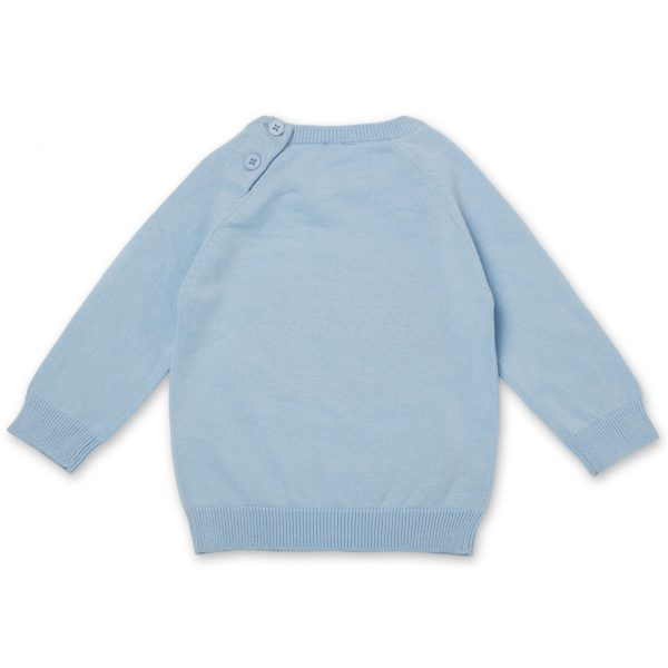 May Gibbs x Walnut Melbourne Cuddle Knit Jumper Bush Baby Blue back