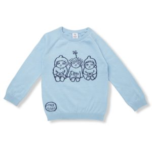 May Gibbs x Walnut Melbourne Cuddle Knit Jumper Bush Baby Blue