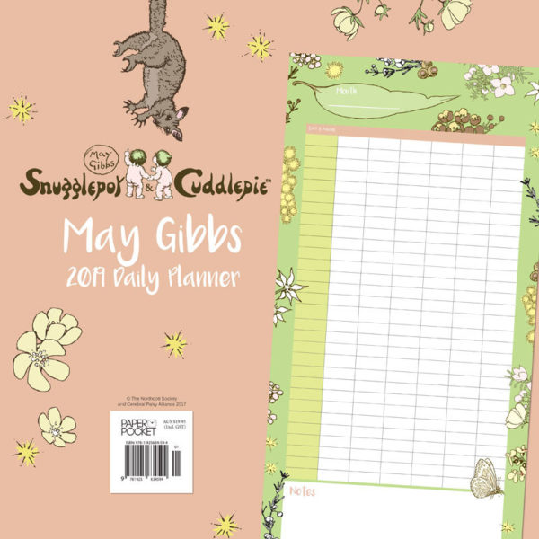 May Gibbs Gumnut Babies 2019 Daily Wall Planner back