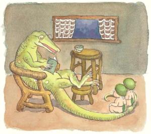 Mr Lizard from Goodnight Gumnuts