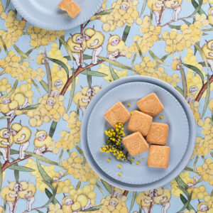 May Gibbs x Nerida Hansen Fabrics - Blossom Babies Sky