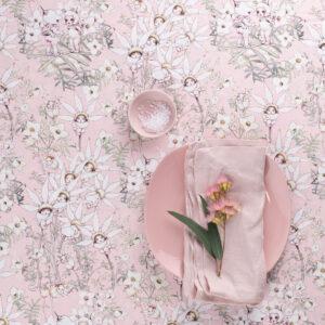 May Gibbs x Nerida Hansen Fabrics - Boronia/Flannel Flower Babies Pink