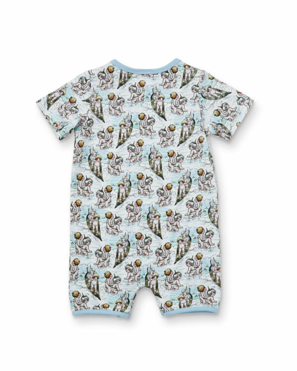 May Gibbs x Walnut Melbourne River Onesie Surf's Up back