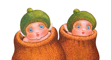Gumnut babies Illustration