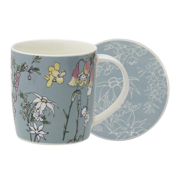May Gibbs by Ecology Mug & Coaster Set Flower Babies