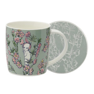 May Gibbs by Ecology Mug & Coaster Set Flower Babies Light Green