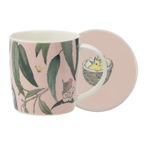 May Gibbs by Ecology Mug & Coaster Set Gumnut Babies Pink